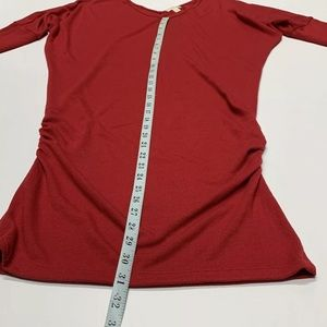 Zenana Outfitters Red Large Dress Fitted V-neck
